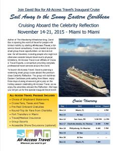 Cruising Eastern Caribbean with David